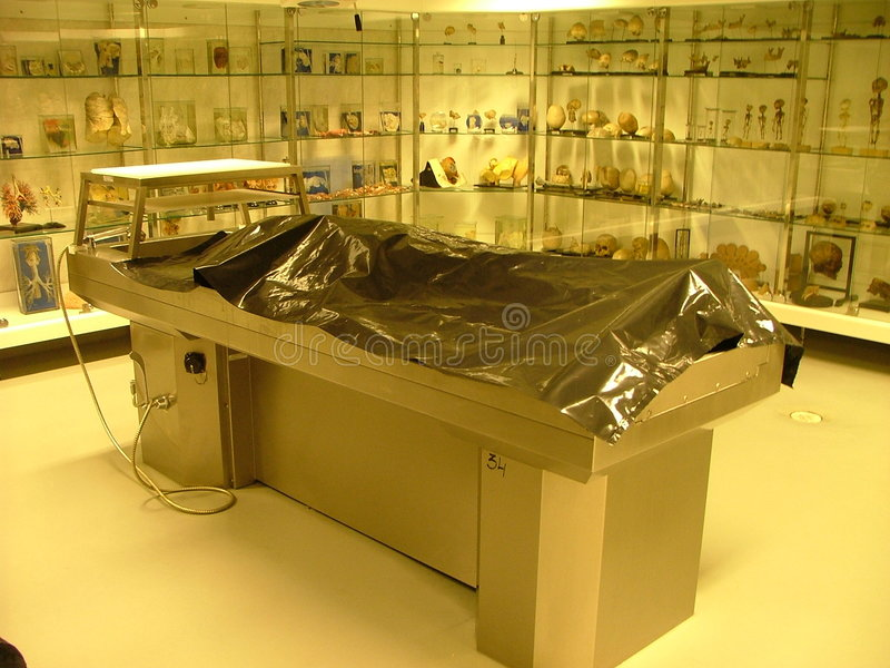 Autopsy table royalty free stock photography