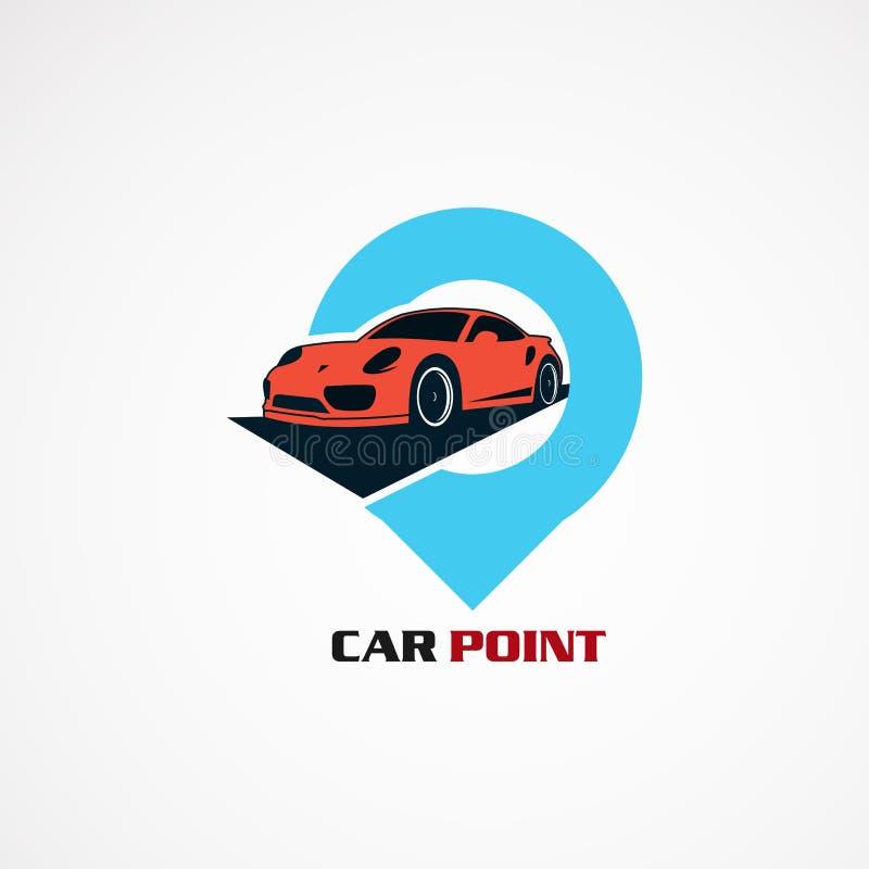 Autopunt met de moderne vector, het pictogram, het element, en het malplaatje van het conceptenembleem voor bedrijf royalty-vrije illustratie