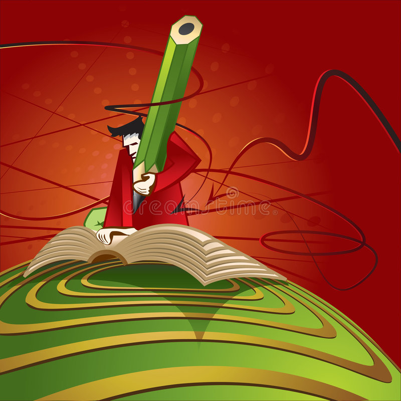 Autor stock de ilustración