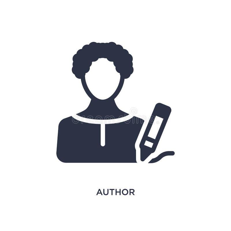 autor ikona na białym tle Prosta element ilustracja od Kinowego pojęcia ilustracja wektor