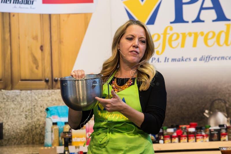Autor Melissa dArabian i szef kuchni zdjęcie royalty free