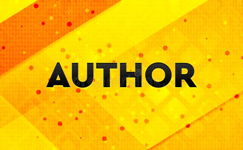 Autora abstrakta sztandaru koloru żółtego cyfrowy tło royalty ilustracja