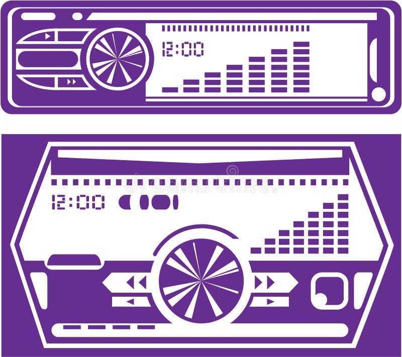 Autoradio illustrazione vettoriale