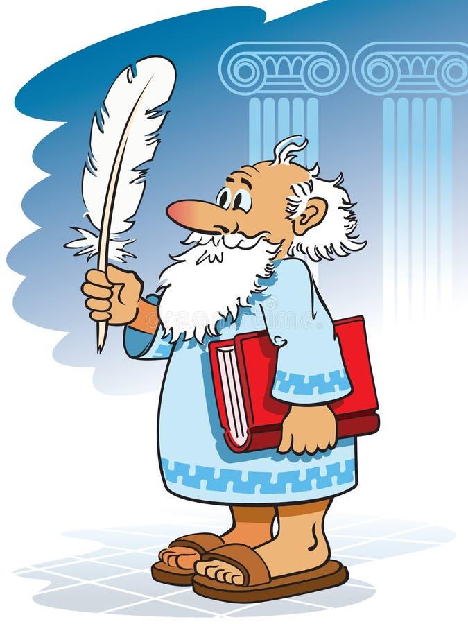 Autore antico illustrazione vettoriale