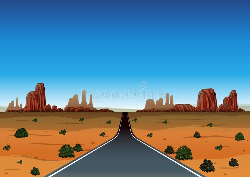 Autoreise durch die Wüste vektor abbildung