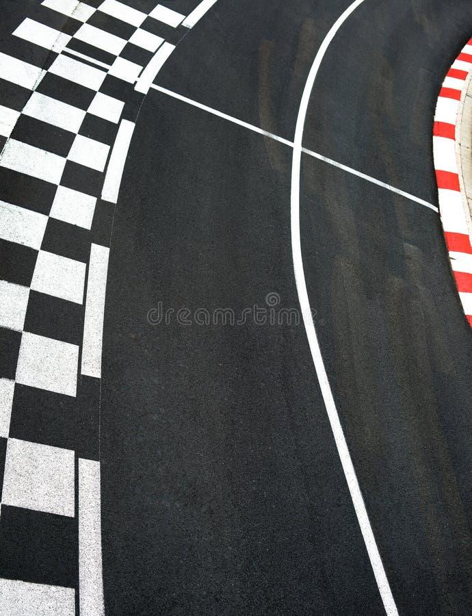 Autorennenasphalt auf Straßenkreisläuf stockfotografie