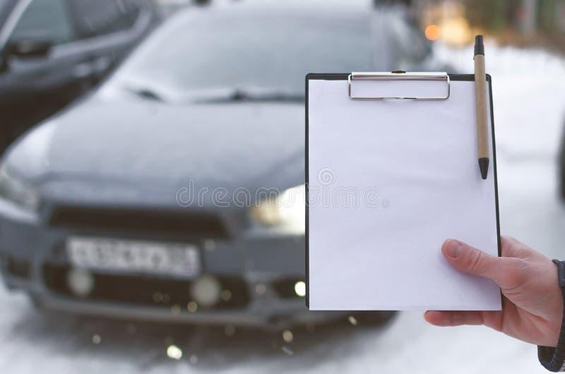 Autoreparaturliste stockbild