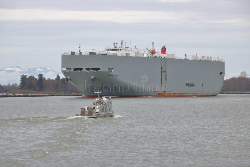Autorità portuale e cargo canadesi fotografie stock libere da diritti