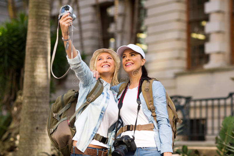 Autoritratto dei turisti fotografie stock
