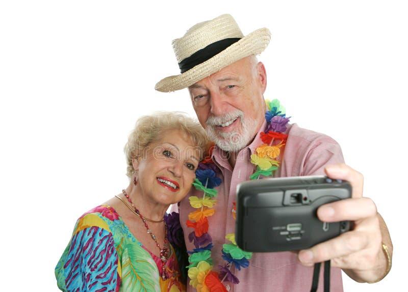 Autoritratto delle coppie di vacanza fotografia stock libera da diritti