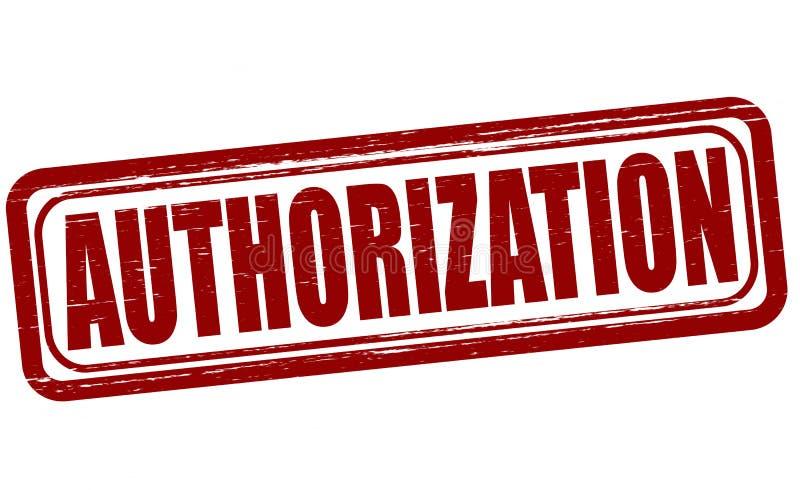 autorização ilustração do vetor