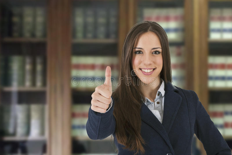 Autorización de la mujer de negocios fotos de archivo
