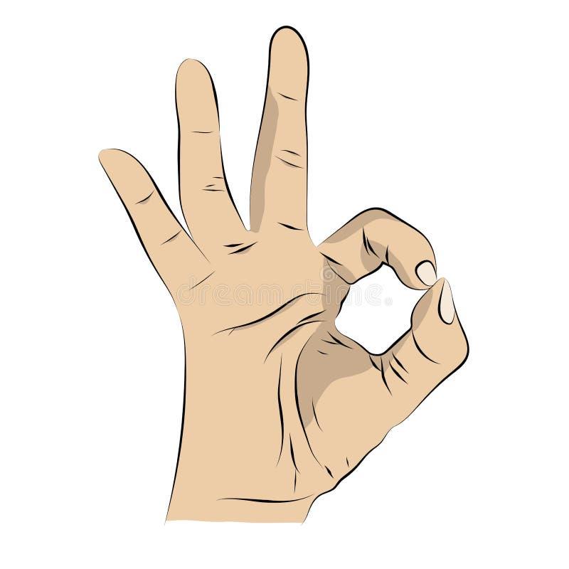AUTORIZACIÓN del gesto en montante de la historieta ilustración del vector
