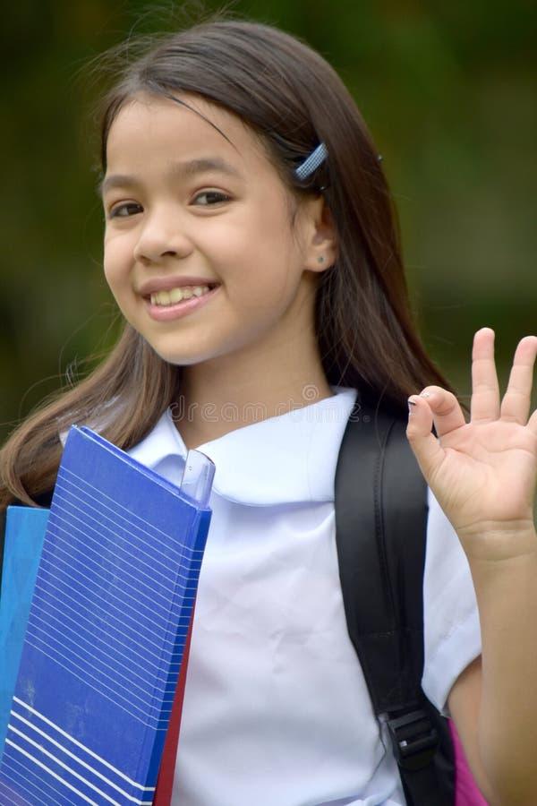 Autorización Filipina Female Student joven fotografía de archivo libre de regalías