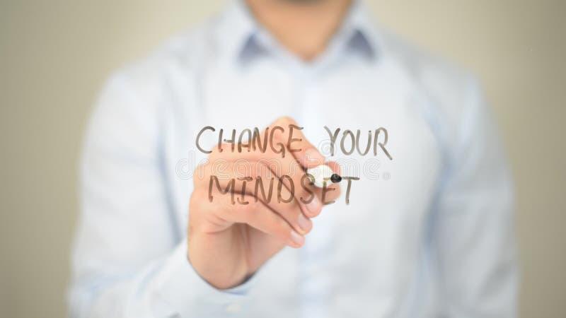 Autorize Yourelf, escrita do homem na tela transparente fotografia de stock