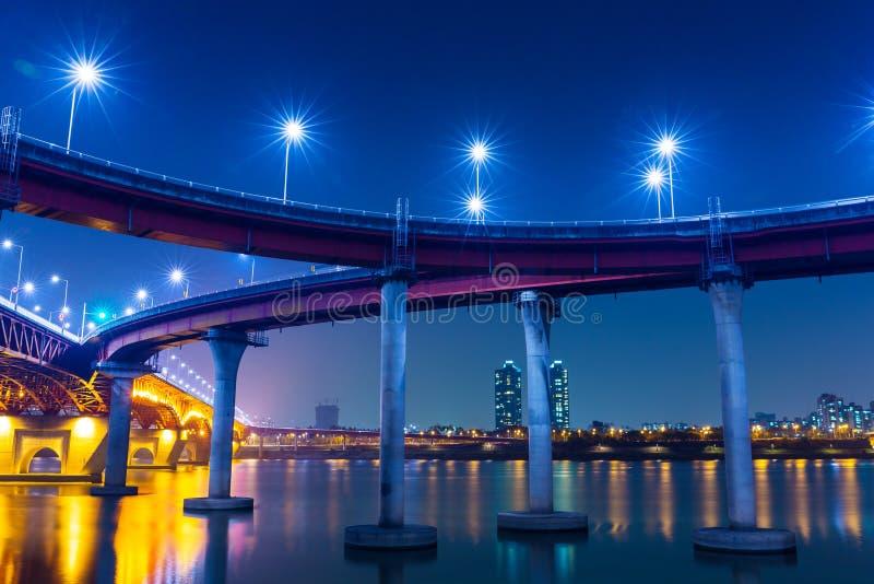 Autoroute à Séoul photographie stock libre de droits