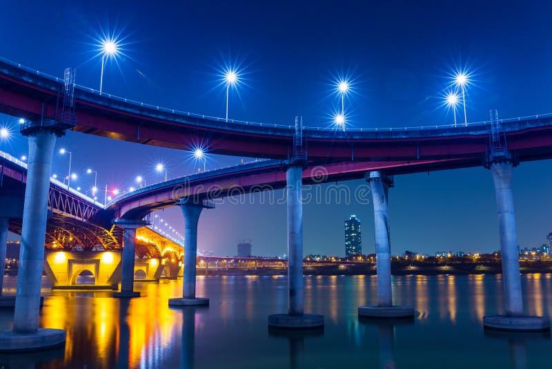 Autoroute à Séoul photo libre de droits