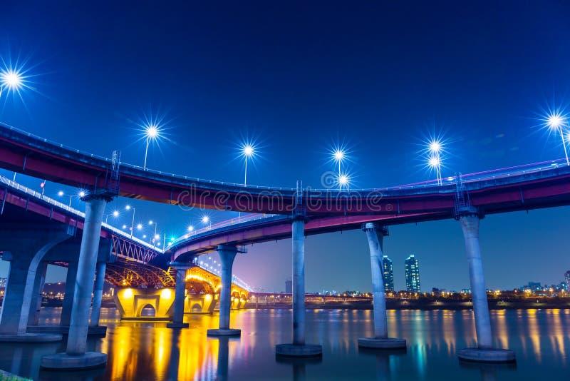 Autoroute à Séoul image libre de droits