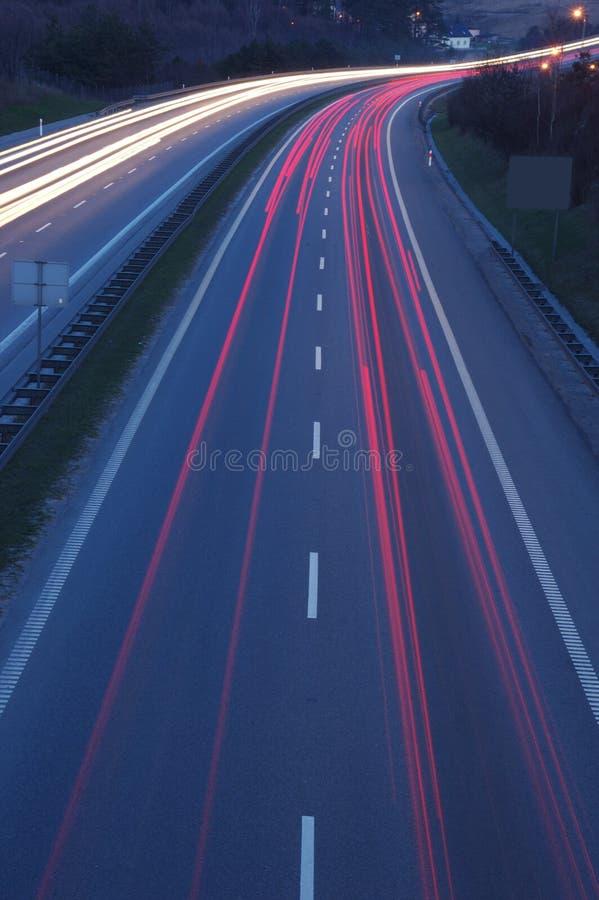 Autoroute photo stock