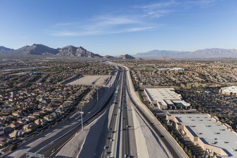 Autoroute de l'antenne 215 dans Summerlin Nevada photos libres de droits