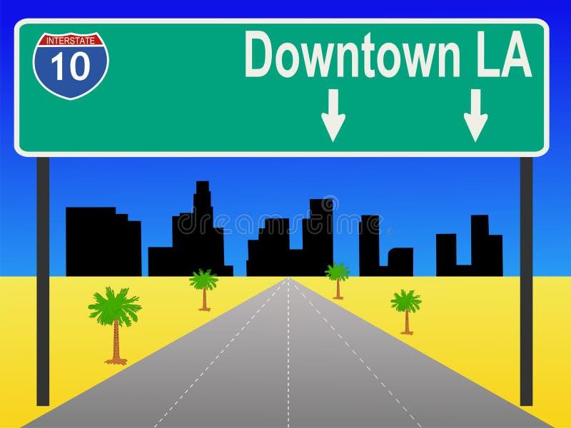Autoroute de Los Angeles illustration libre de droits