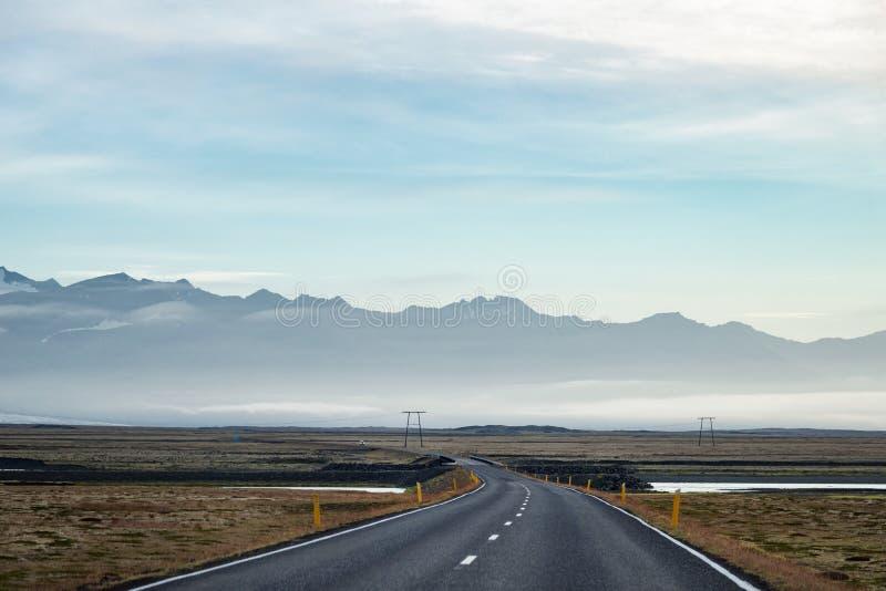 Autoroute en Islande photographie stock