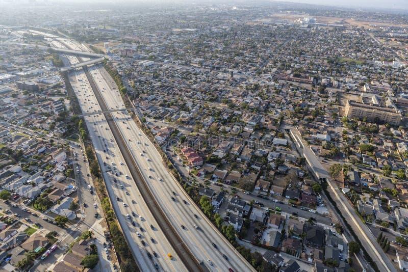 Autoroute Inglewood la Californie de siècle photo libre de droits
