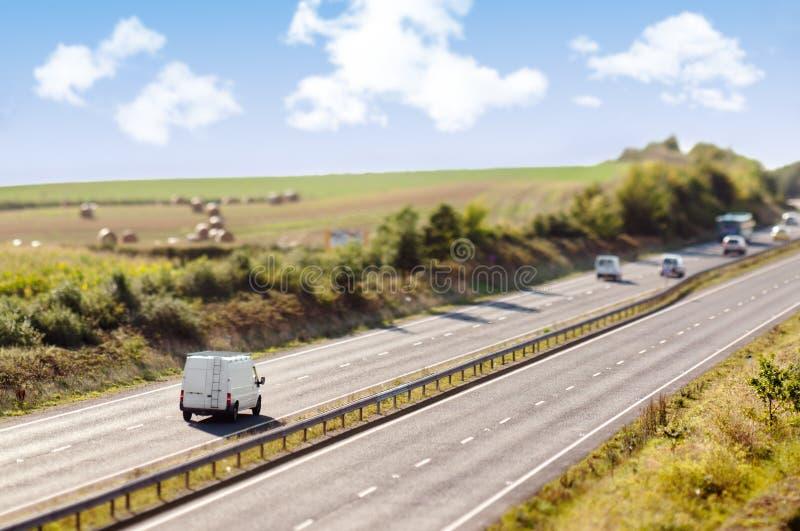 Autoroute miniature photographie stock libre de droits