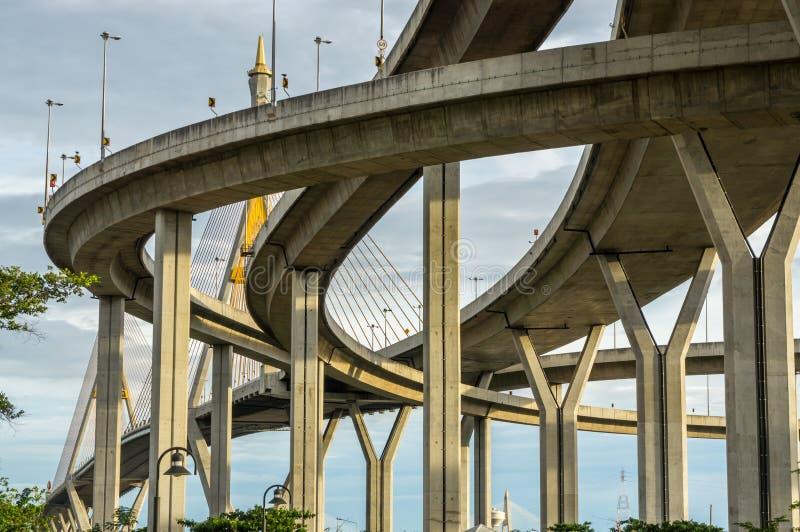 Autoroute urbaine élevée en Thaïlande images libres de droits