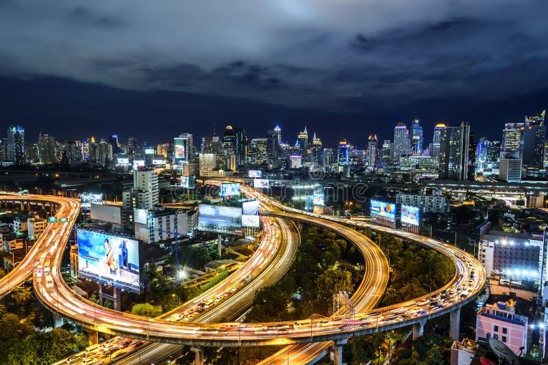 Autoroute urbaine de Bangkok photographie stock libre de droits