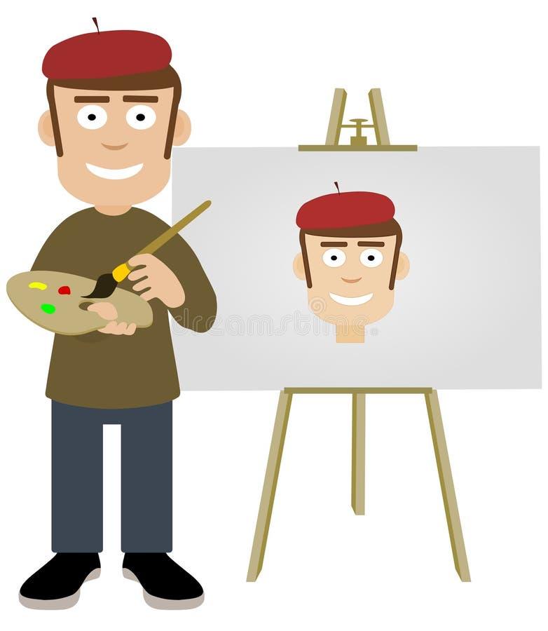 Autorretrato ilustração stock