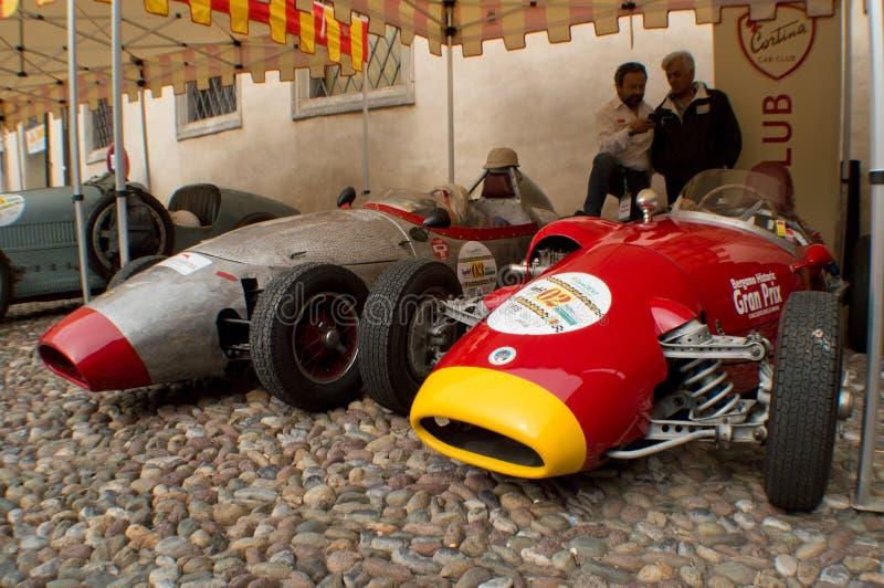 Autos der Formel 2 in Bergamo historischer Grandprix 2015 stockbilder