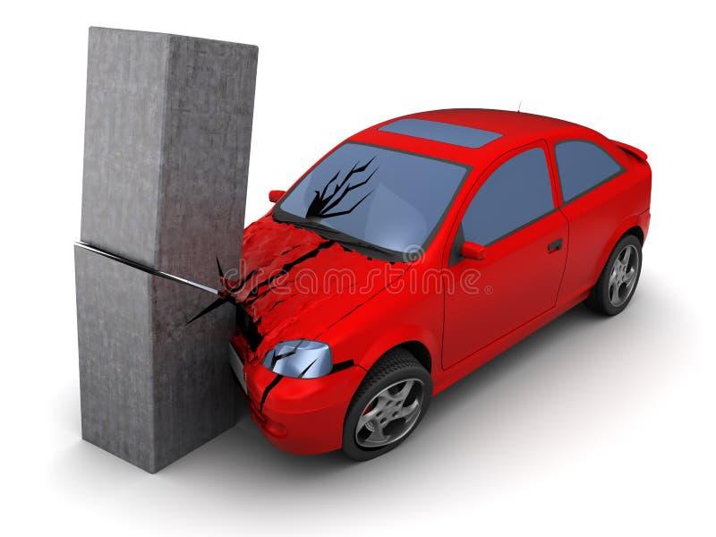 Autos haben Zusammenstoß mit großer Drehzahl auf gefrorener Datenbahn vektor abbildung