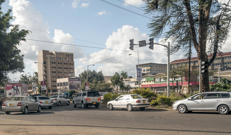 Autos in Nairobi stockfoto