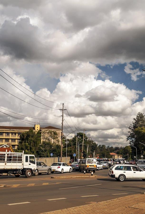 Autos in Nairobi stockbilder