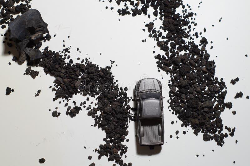 Autos Toy Top View lizenzfreie stockfotos