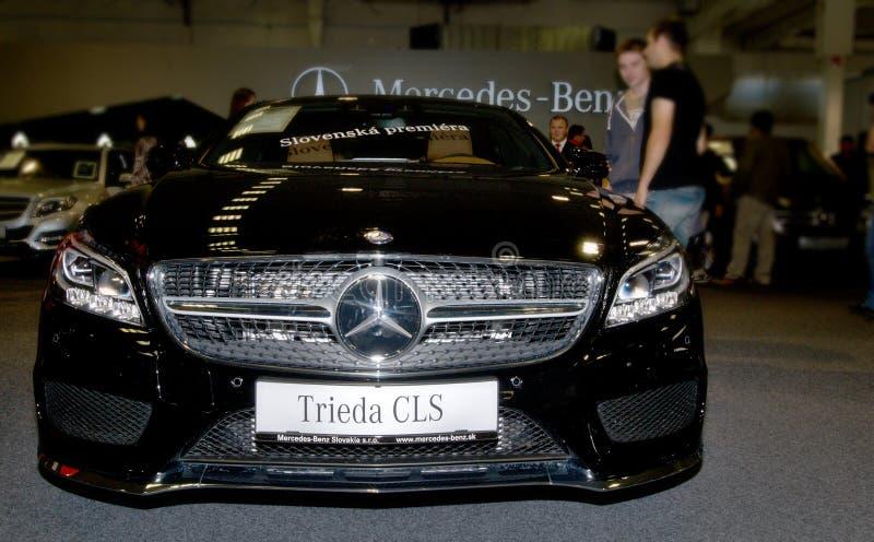 Autosalon Slovakia 2014 - Mercedes Benz class CLS royalty free stock photo