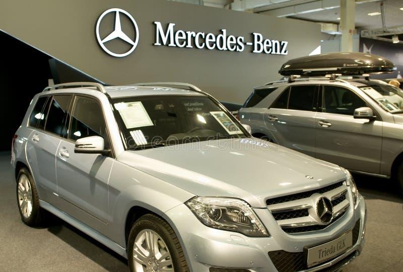 Autosalon Slowakije 2014 - Mercedes Benz-klasse CLS stock fotografie