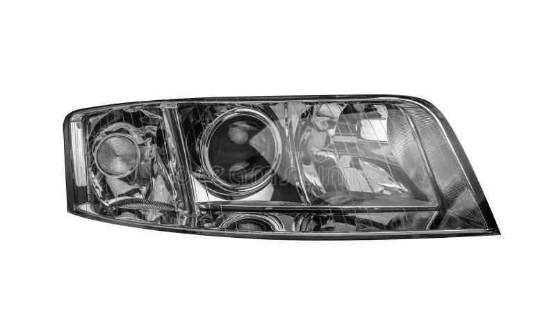 Autoscheinwerfer lokalisiert auf weißem Hintergrund lizenzfreies stockfoto