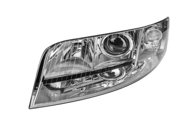 Autoscheinwerfer lokalisiert auf weißem Hintergrund lizenzfreie stockfotos