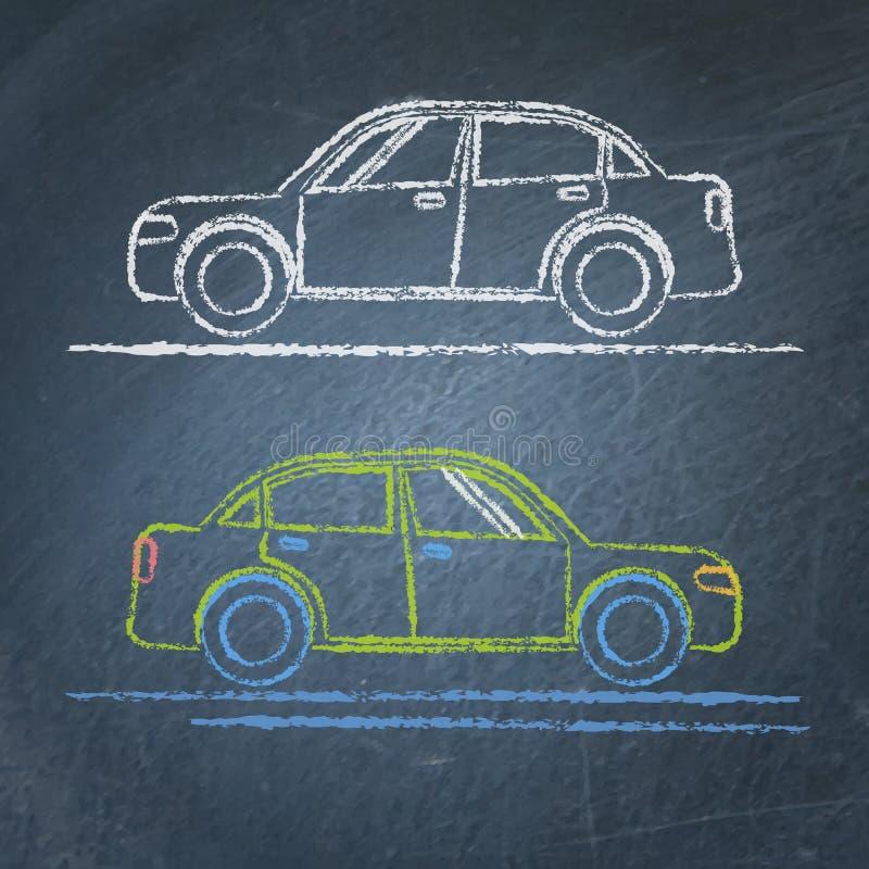 Autoschets op bord stock illustratie