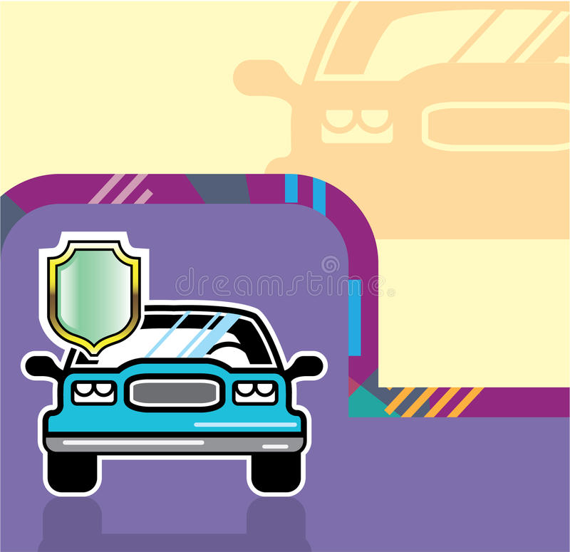 Autoschild vector illustratie