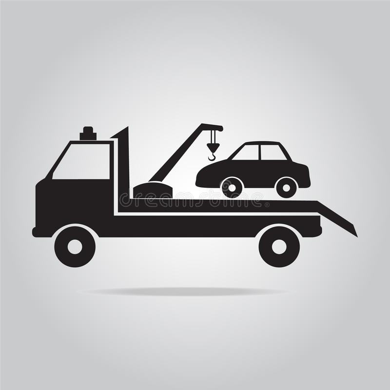 Autoschleppen-LKW-Ikonenillustration lizenzfreie abbildung