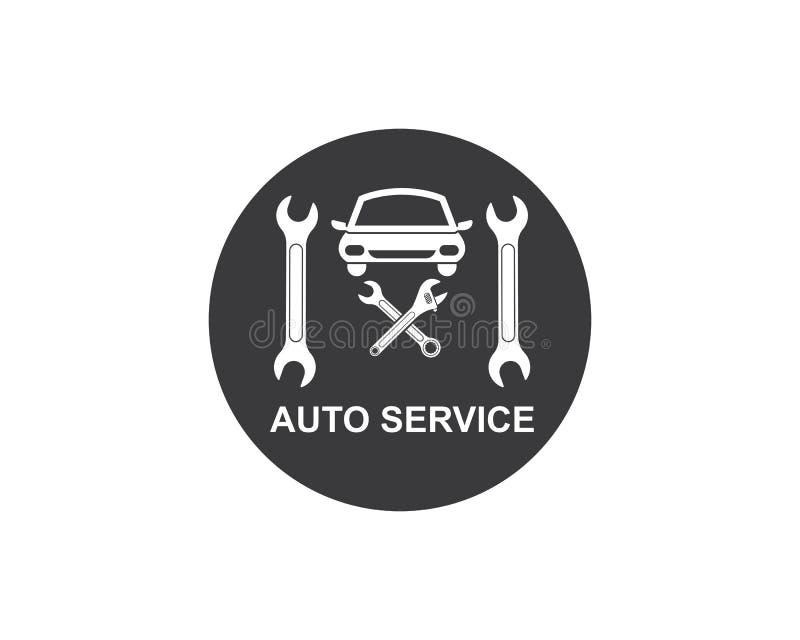 Autoservice-Logoikonen-Vektorillustration vektor abbildung