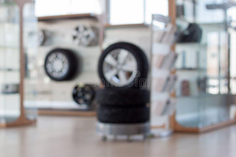 Autoshop Dodatkowe części i akcesoria O temacie plamy tło obraz stock