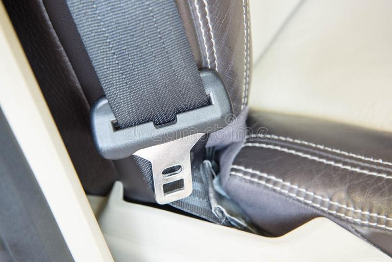 Autosicherheits-Riemenverbinderkopf lizenzfreie stockfotografie