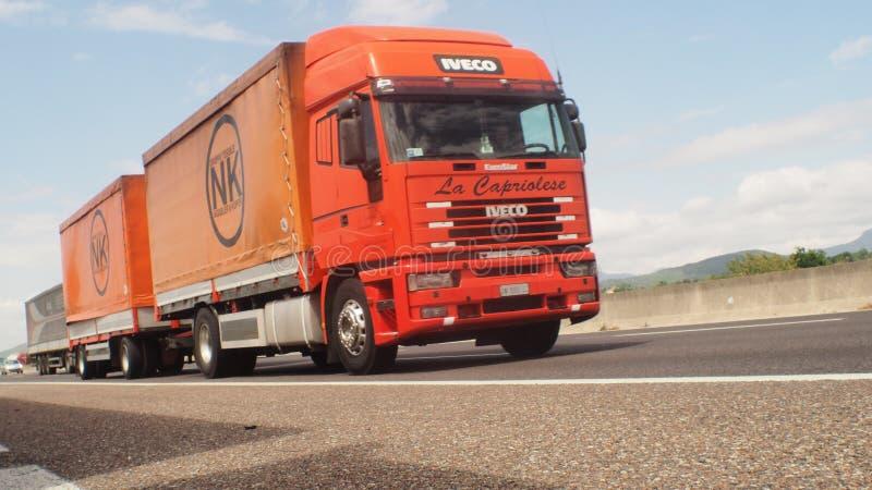 Autosnelwegverkeer Europa royalty-vrije stock foto's