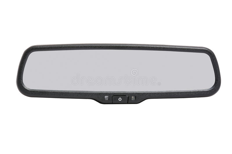 Autospiegel op Witte Achtergrond wordt geïsoleerd die stock afbeeldingen