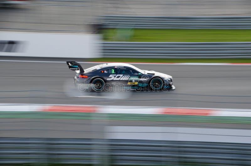 Autosport DTM MoscowRaceWay 2017年AudiTeam 免版税库存照片