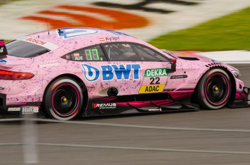 Autosport DTM MoscowRaceWay 2017 AudiTeam royalty-vrije stock foto's